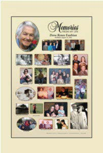 memories from my life poster, 20 photo + cameo