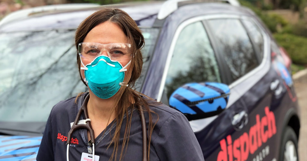 dispatchhealth caregiver wearing ppe